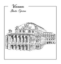 vienna state opera house austria wiener vector image vector image