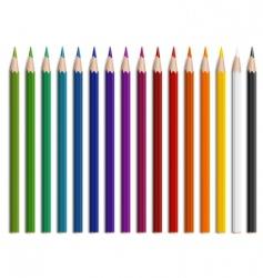 Wooden pencils vector