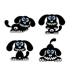 Happy Dog with blue eyes vector image vector image