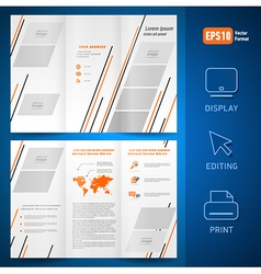 brochure design template leaflet geometric vector image vector image