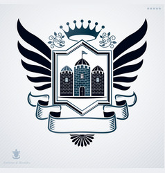 heraldic vintage design element retro style label vector image vector image