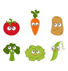cartoon vegetable cute vector image vector image