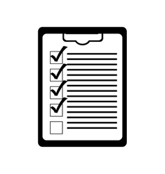 clipboard with checklist icon image vector image
