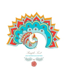 magic decorative hindu peacock vector image vector image