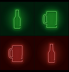 Neon beer sign vector