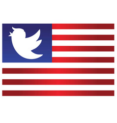 trump bird icon on blue and red stripes flag sign vector image vector image