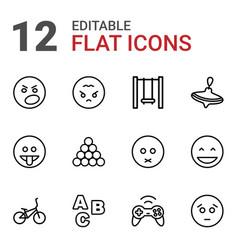 12 fun icons vector