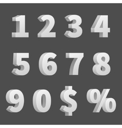 3d numbers and symbols three-dimensional vector