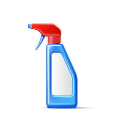 3d spray pistol detergent bottle mockup vector image