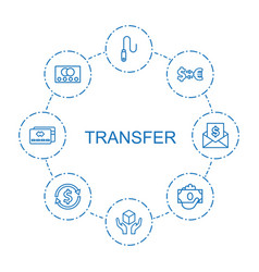 8 transfer icons vector