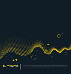 abstract gold line pattern decoration on blue vector image