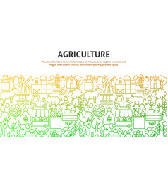 agriculture art concept vector image