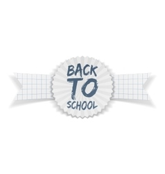 Back to School realistic Banner vector