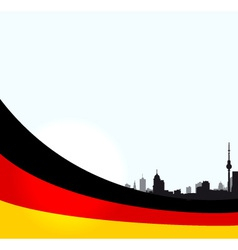 Berlin with German flag vector