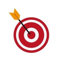 Bullseye and arrow icon vector