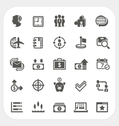 Business and finance icons set vector