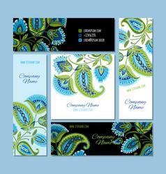 business cards design floral background vector image