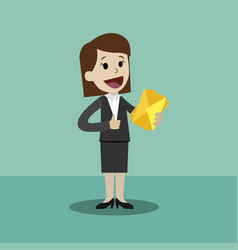 businesswoman has a lot of emails he found the vector image