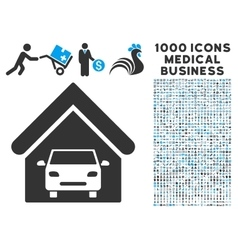 Car Garage Icon with 1000 Medical Business vector image