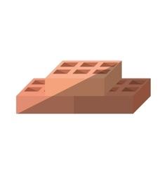 cartoon blocks brick construction tool vector image