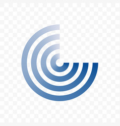 circle blue line icon vector image