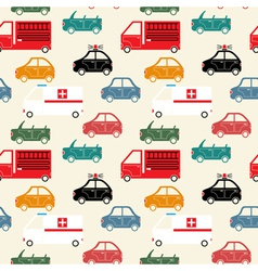 City car seamless pattern color vector