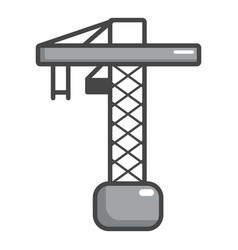 Construction crane icon cartoon style vector