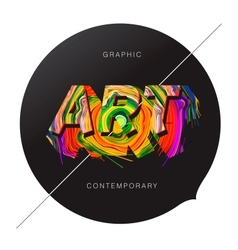 Contemporary Art abstract background vector