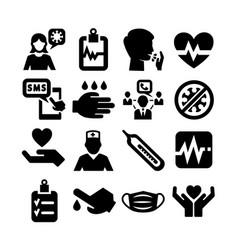 coronavirus icon set vector image