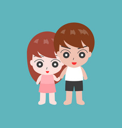 couple holding hand in casual dress flat design c vector image