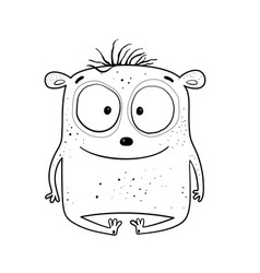 Cute bamonster for kids coloring book vector