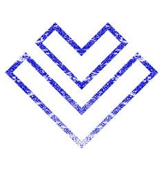 Direction down grunge textured icon vector