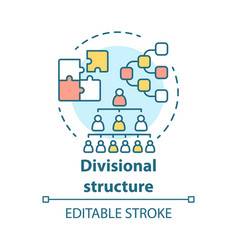 Divisional corporate structure concept icon vector