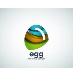 Egg logo template vector