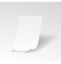 Empty paper sheet with curl vector image