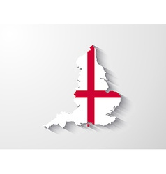 england map with shadow effect vector image