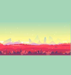 Fantastic landscape game background surface vector
