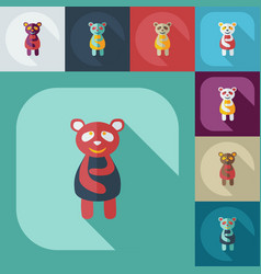 Flat modern design with shadow icons panda is sick vector
