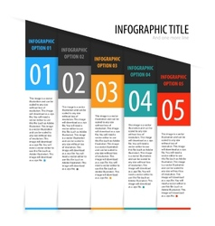 Flat vertical infographics options banner set vector image