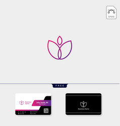 flower tulip beauty concept logo template free vector image