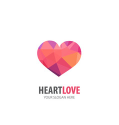 heart love logo for business company simple vector image