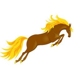 Horse jump vector