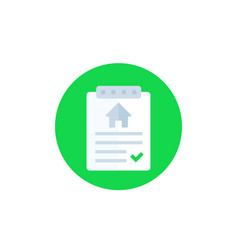 House rent contract icon vector