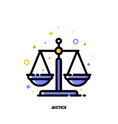icon of justice scales for law and justice vector image