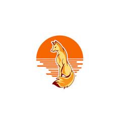 Image a fox design vector