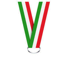 Italian ribbon for medal italian tricolor vector