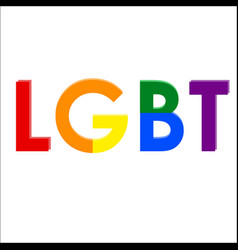 lgbt letters representing the community vector image