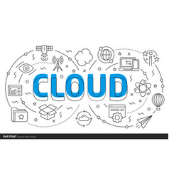 lines template cloud vector image