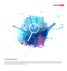 lollipop icon - watercolor background vector image
