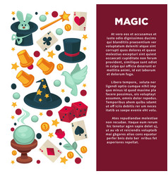 magic show and magician equipment circus circus vector image